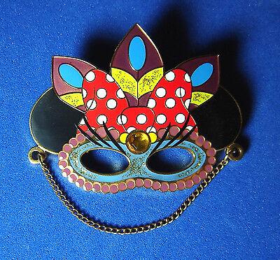 Minnie Mouse Mask Disney Pin Mickey's Parti GrasLE 300 LARGE Pin RARE