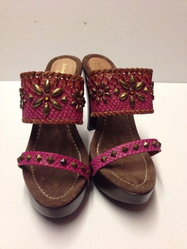 Isabella Fiore Heels with wood Pagan Wood Pelle Pelle Pelle Sandalo