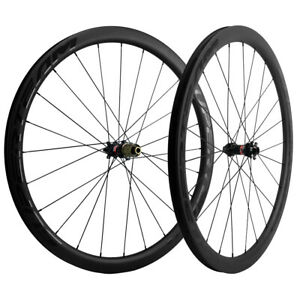 700C-38mm-Carbon-Road-Disc-Brake-Wheelset-Cyclocross-Bicycle-Wheels-QR-THRU-AXLE