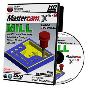 mastercam x8 x9 mill beginner video tutorial training course in 720p rh ebay com Mastercam Logo Basic Machining Mastercam 3D PDF