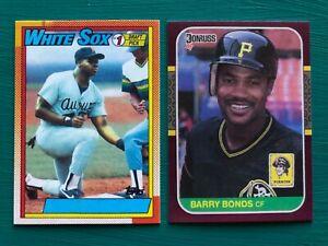 1990-Topps-FRANK-THOMAS-amp-1987-Donruss-Opening-Day-BARRY-BONDS-Error-REPRINTS