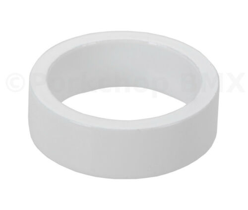 """Bicycle MINI BMX ROAD MTB headset spacers 1/"""" threadless WHITE 10mm SET of 4"""