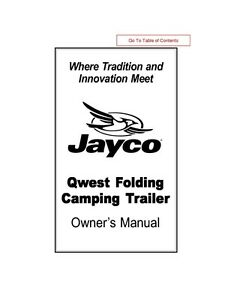 jayco fold down pop up tent trailer owners manual 2002 qwest ebay rh ebay com jayco eagle 10ud owners manual 2002 jayco eagle owner's manual
