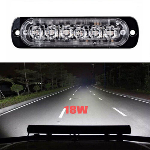 1pcs 6 Inch 18W LED Work Light Bar Spot Flood Offroad ATV Fog Truck Driving Lamp