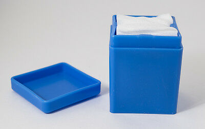 Dental Medical Spa Gauze Dispenser Holder 2 x 2 Blue
