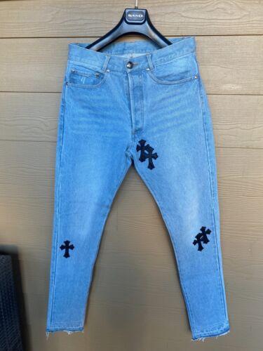 Chrome Hearts Denim Patchwork Jeans