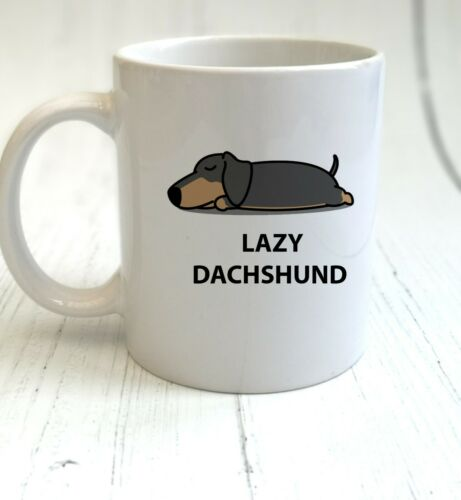 Lazy Animals Mug /& Coaster Gift Lazy Dachshund Cup Set Sausage Dog