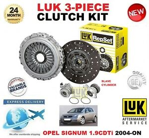 FOR-OPEL-SIGNUM-1-9-CDTi-CLUTCH-KIT-2004-ON-LUK-3-PIECE-WITH-SLAVE-CYLINDER
