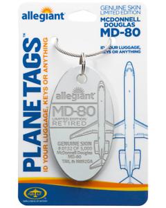 Allegiant-Air-McDonnell-Douglas-MD-80-Tail-N892GA-Aluminum-Plane-Skin-Bag-Tag