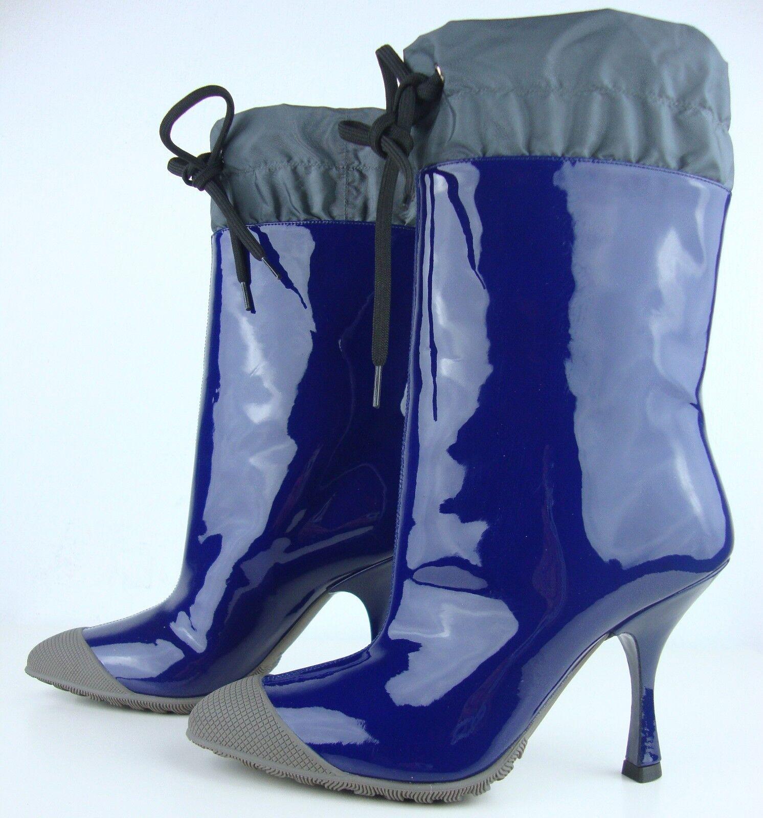 MIU MIU Leder by PRADA Damen Stiefel Stiefelette Stiefel Leder MIU Blau Gr.35 NEU a2b713