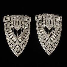 Ktf Art Deco pave fur clips. Lot 15