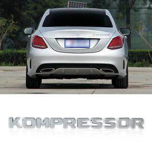 3D-Chrom-KOMPRESSOR-Abzeichen-Emblem-Aufkleber-fuer-Mercedes-Benz-SLK-CLK-CLS-ML