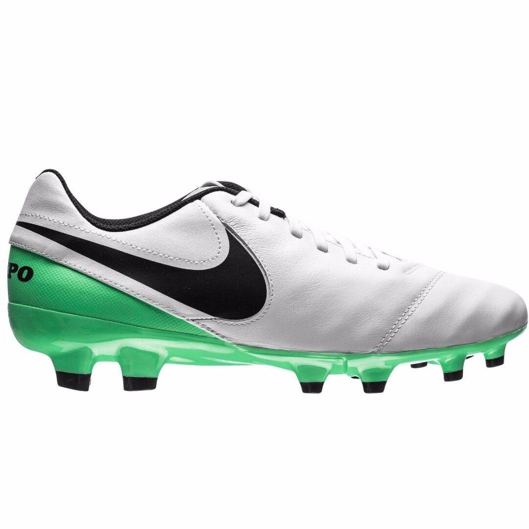 Nike Tiempo Genio Cuero II Para Hombre Botines De Fútbol Estilo 819213-103 Nuevas Con Caja