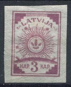 Lettonie-1919-Mi-3-C-Sans-gomme-100-non-dentele-3-K-Dim