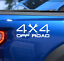 2X 4X4 Off Road Truck Bed Decal Vinyl Sticker Wrench Lifted Truck Coal Roller
