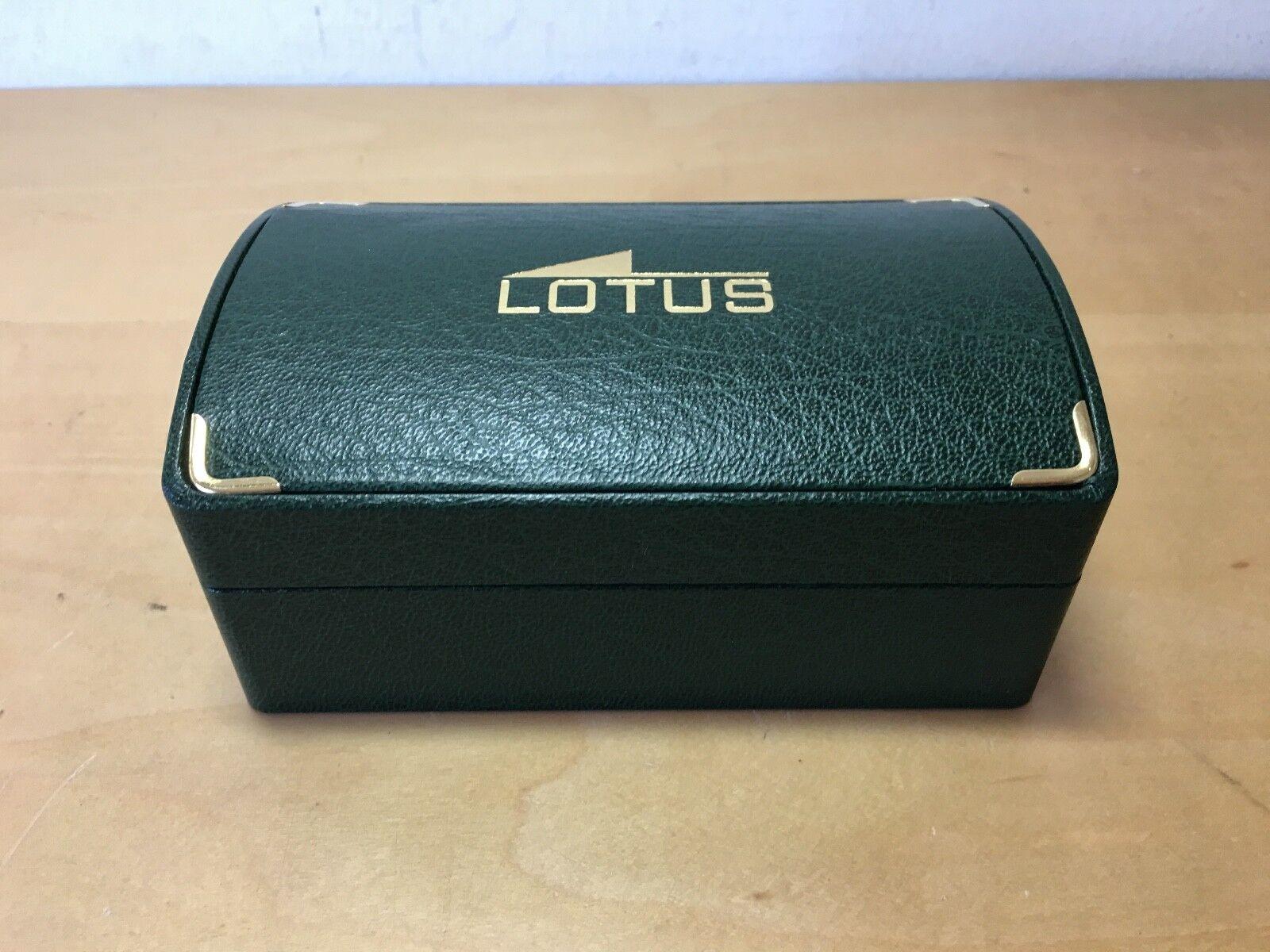New - Vintage Watch Case LOTUS Estuche Estuche Estuche Reloj - 14 x 9 x 6 5 cm - verde - Nuevo edce7f