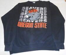 VTG Oregon State University OSU Grey Benny Beaver 80s Sweatshirt Santee Sz 2XL