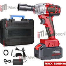 Cordless Electric Impact Wrench Gun 12 Driver Drill With 3a Battery 800 Nm 20v