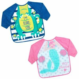 Babies Bibs With Sleeves Baby Led Weaning Feeding Messy Play Apron