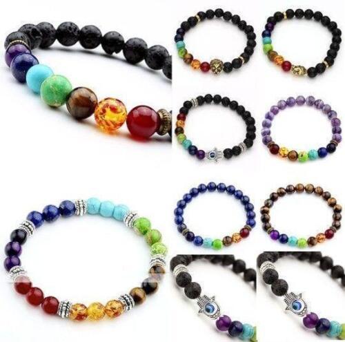 7 Chakra Guérison Équilibre Prière Bracelet Bead Reiki Guérison Rosaire Collier BG