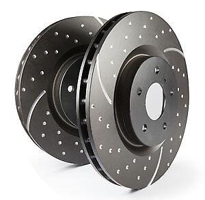 98 /> 05 EBC Turbo Grooved Rear Solid Brake Discs for Mazda MX5 Mk2 1.6 NB