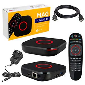 Genuine MAG424w3 Infomir UHD IPTV//OTT Wi-Fi 802.11a//b//g//n//ac HEVC H.265 UK Plug