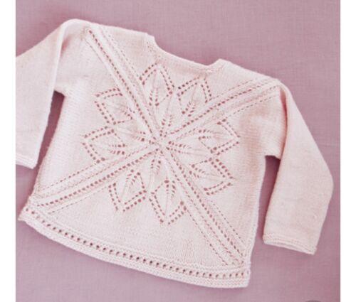 C7 Knitting Pattern pour Bébé//Filles Pull-Taille 1 MTH à 4 ans