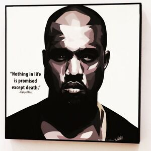kanye west canvas quotes wall decals photo painting framed pop art