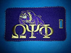 Vintage Omega Psi Phi Fraternity University College Tag Patch Crest