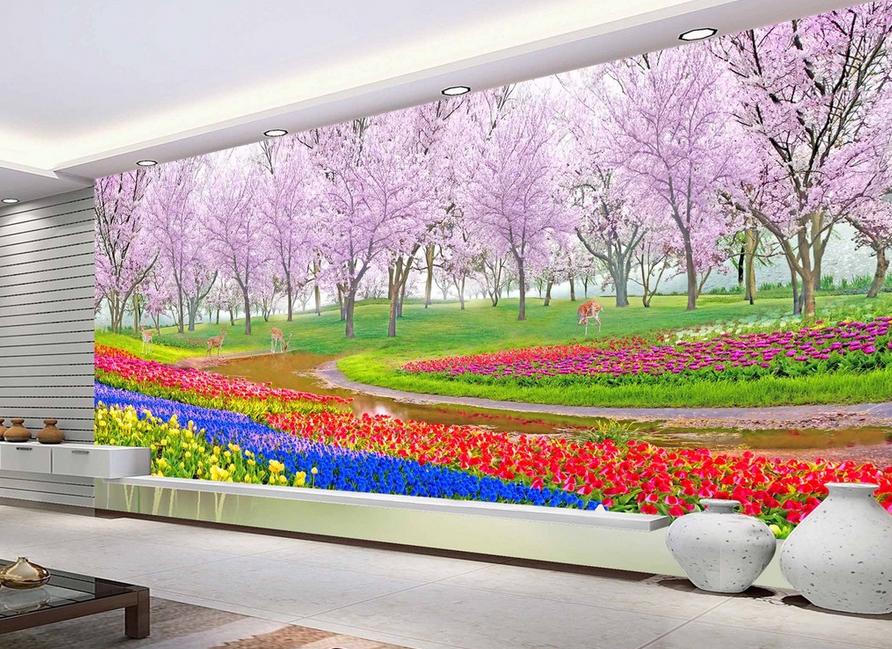 3D Bunter Garten Baum 8 Tapete Wandgemälde Wandgemälde Wandgemälde Tapete Tapeten Bild Familie DE Summer | Authentisch  | Ausgezeichnet (in) Qualität  |  af3223
