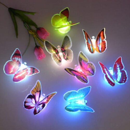 Novelty Colors Changing Cute Butterfly LED Night Light Lamp Home Room Nightlight