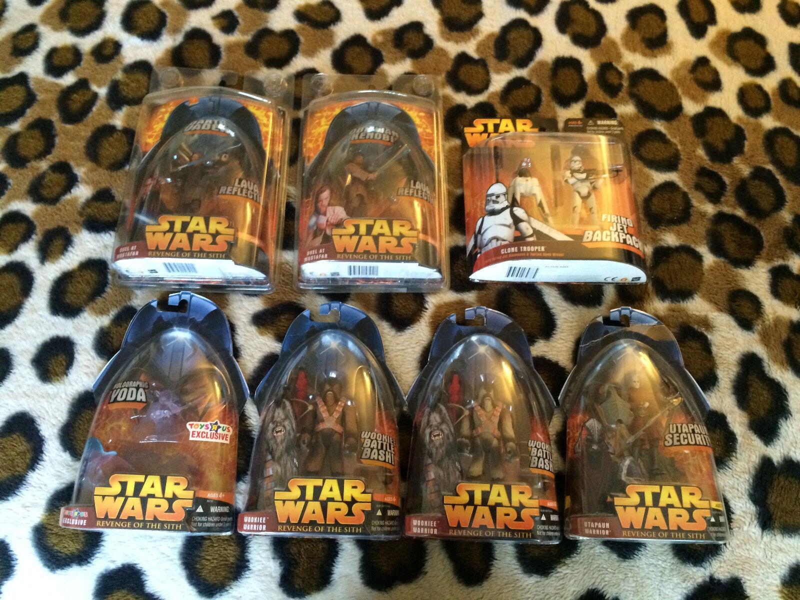 HASBRO STAR WARS redS ( EPISODE 3 ) 7 figure lot store exclusives deluxe clone