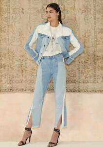 Sass Bide A Band Beads High Rise Patchwork Crop Flare Jeans Size 30 Ebay