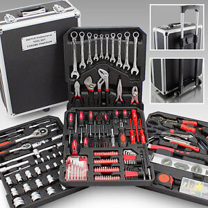 Werkzeugkoffer-399-teilig-Werkzeugkasten-Werkzeugset-Werkzeugbox-Werkzeugtrolley