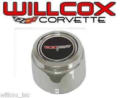 80-81 CORVETTE ALUMINUM WHEEL CENTER CAP HUB CAP EACH
