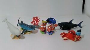 Disney Pixar Finding Nemo Figurine Lot Of 8 Play Figures Disney Store