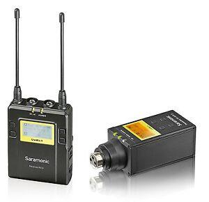 saramonic uwmic9 uhf wireless plug in xlr microphone system transmitter receiver ebay. Black Bedroom Furniture Sets. Home Design Ideas