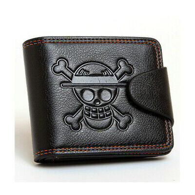 Japanese Anime ONE PIECE mixed colors PU wallet with Portgas D Ace skull mark