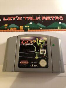 Péron 3 profundo Cubierta Gecko Nintendo N64 PAL solo Carro Genuino