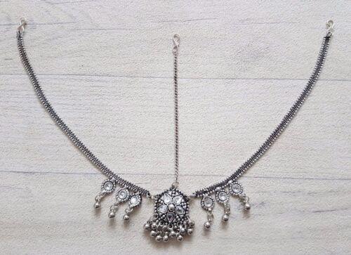 NEW Indian Garba Navratri Ionised Necklace Earrings Tikka Head Piece Boho Gypsy