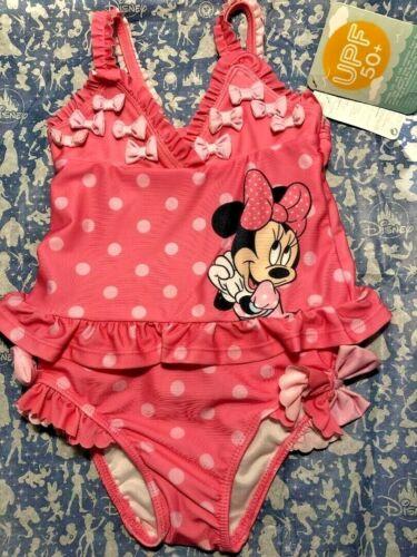 BABY~MINNIE MOUSE~InFant~2pc~TANKINI~SWIM SUIT~Pink~Polka dot~NWT~Disney Store