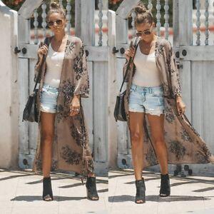 Women-Ladies-Long-Chiffon-Kimono-Cardigan-Shirt-Long-Beach-Cover-Up-Tops-Casual