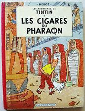 Tintin Les Cigares du Pharaon HERGE EO couleur Belge B15 éd Casterman