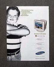 [GCG] K289- Advertising Pubblicità -anni '90- SAMSUNG MONITOR SYNCMASTER