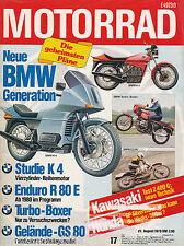 Motorrad 17 79 BMW GS 80 Kawasaki Z 400 G Kreidler RMC-S BMW R 100 S Turbo 1979
