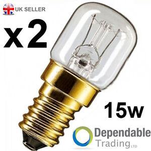 2-x-15w-Eveready-Lampes-De-Four-Cuisiniere-Ampoule-230v-SES-E14-300-Degres