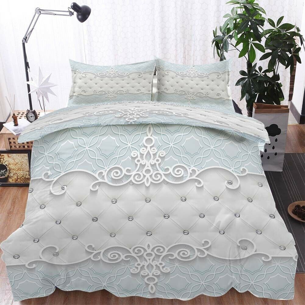 Crown Soft Sofa 3D Printing Duvet Quilt Doona Covers Pillow Case Bedding Sets