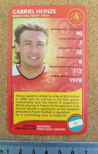 Top Trumps única Tarjeta Tarjetas de fútbol del Manchester United Edición 2005//06 Varios