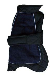 Perro-abrigo-de-ir-a-pie-acolchado-termico-Chaqueta-2-tonos-Impermeable-Rojo-Azul-Negro