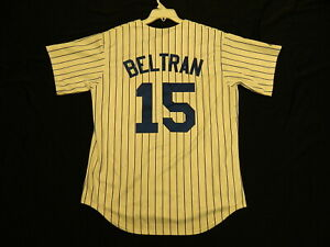 Details About Official Carlos Beltran New York Mets Throwback Home Pinstripe Jersey Xl